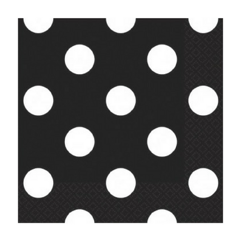 Black and White Dots Small Napkins