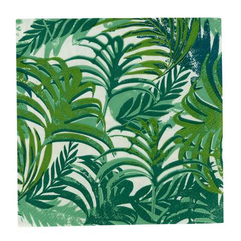 Green Tropical Beverage Napkin