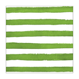 Green and White Watercolor Dots/Striped Small Napkins