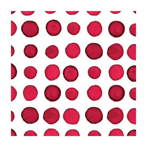 Red and White Dot/Striped Watercolor Small Napkins