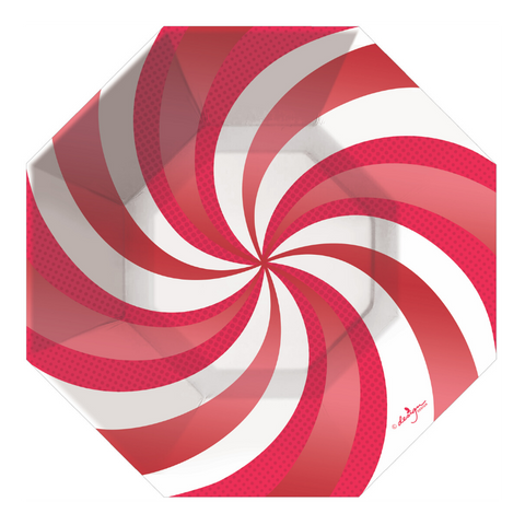 Peppermint Swirl Large Plate