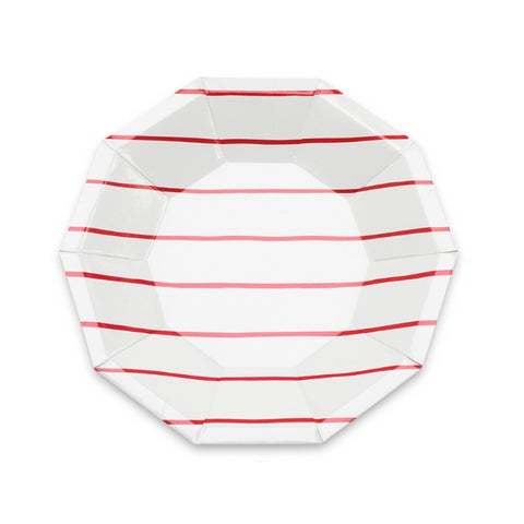 Red Frenchie Striped Small Plate
