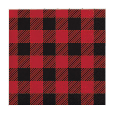Buffalo Plaid Beverage Napkin