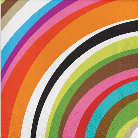 Multi Colored Rainbow Ring Large Napkins