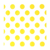 Yellow and White Double Sided Dot/Striped Small Napkins