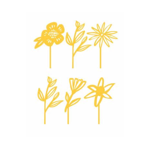 Yellow Floral Cake Toppers