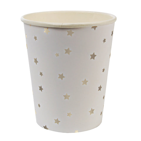 Silver and White Star Party Cups