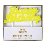 Yellow Happy Birthday Candle