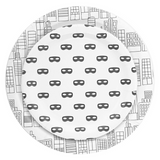 Black and White Mask Small Plate