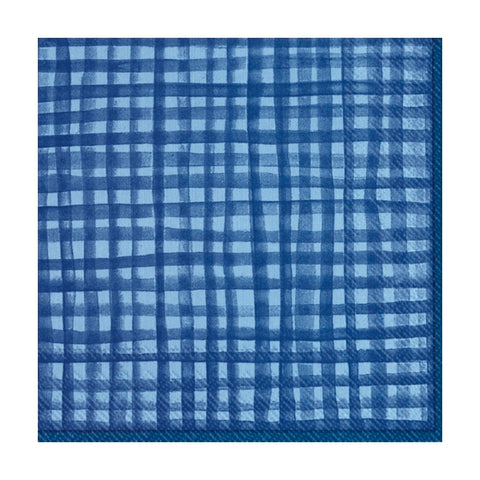 Gentle Square Blue Small Napkins