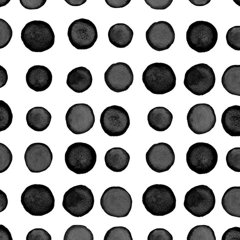 Black and White Watercolor Dots/Striped Large Napkins