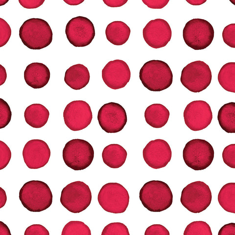 Red and White Dot/Striped Watercolor Lunch Napkin
