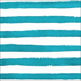 Turquoise and White Dot/Striped Watercolor Large Napkins