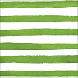 Green and White Watercolor Dot/Striped Large Napkins