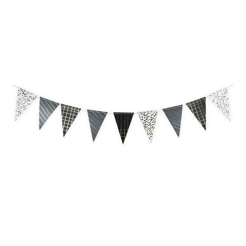 Black Noir Patterned Banner