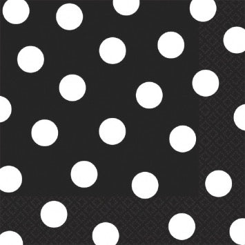 Black and White Dot Lunch Napkin