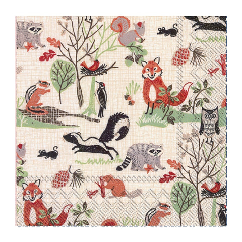 Woodland Animals Small Napkin