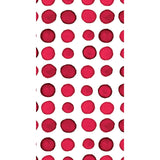 Red and White Dot/Striped Watercolor Guest Towels