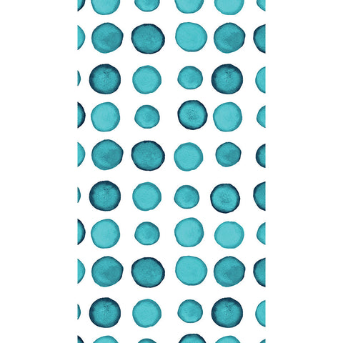 Turquoise and White Dot/Striped Watercolor Guest Towels