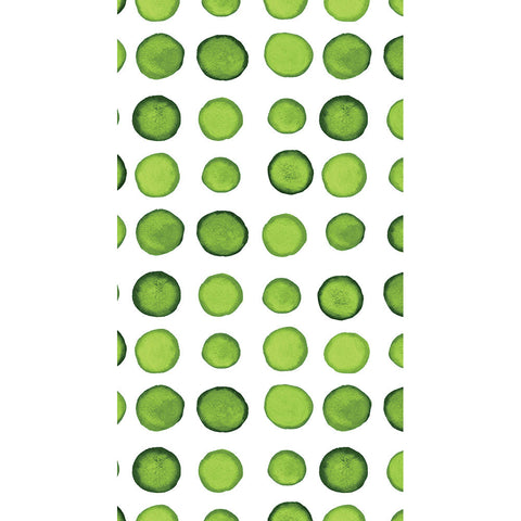 Green and White Watercolor Dot/Striped Guest Towels