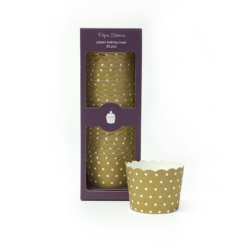 Gold Dot Baking Cups