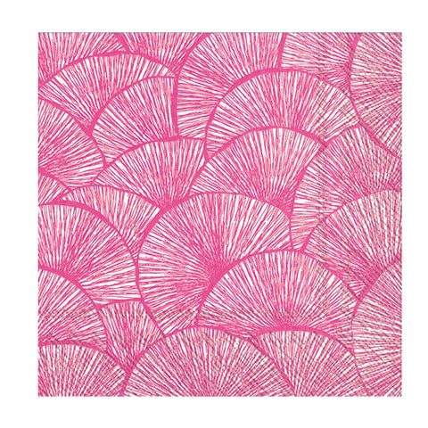 Hot Pink Fans Small Napkins