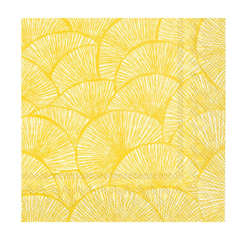 Yellow Fans Small Napkins