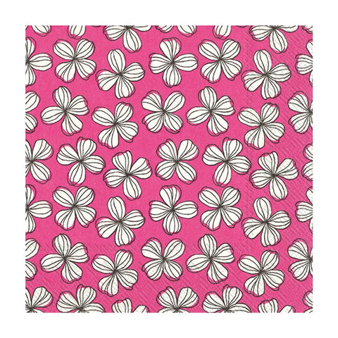 Hot Pink Liv Floral Small Napkins