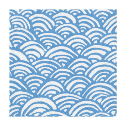 Blue and White Rainbow Small Napkins