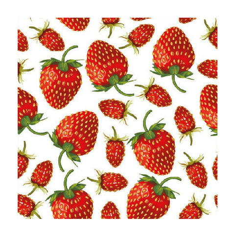 Red Strawberries Small Napkins