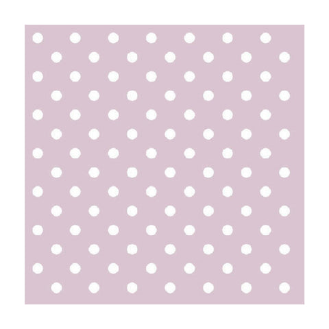 Lavender and White Mini Dots Small Napkins
