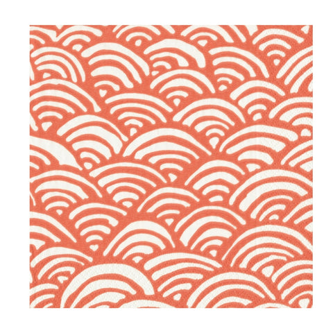 Coral and White Rainbow Small Napkins