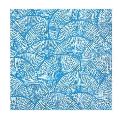 Blue and White Fans Small Napkins