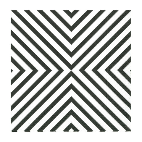 Black and White Chevron Small Napkins