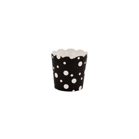 Black and White Dot Bitty Baking Cups