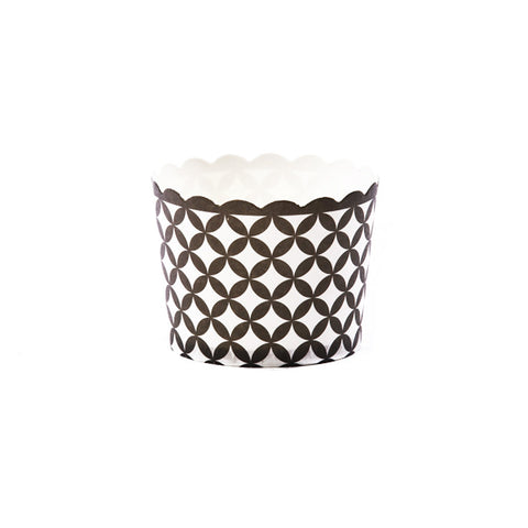 Black and White Diamond Baking Cups