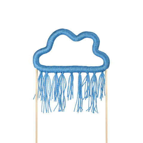 Blue Cloud Cotton Cloud Cake Topper