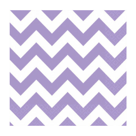 Lavender and White Chevron Small Napkins