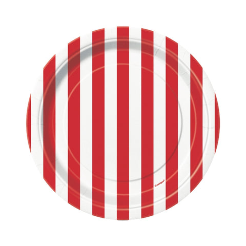 Ruby Red Stripes Small Plate