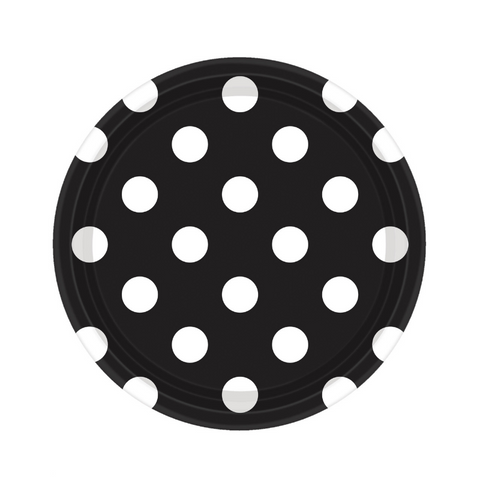 Black and White Dots Small Plate