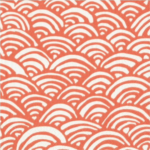 Coral and White Rainbow Large Napkins