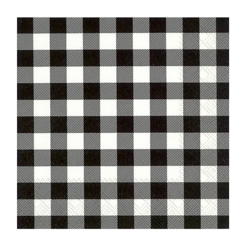 Black Buffalo Check Small Napkins