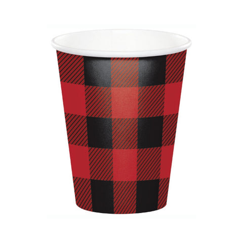 Buffalo Plaid Cups