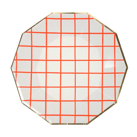 Coral Grid Plate