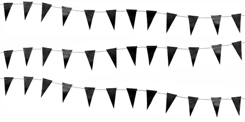Black Mini Flag Garland