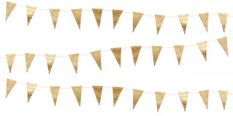 Gold Mini Flag Garland