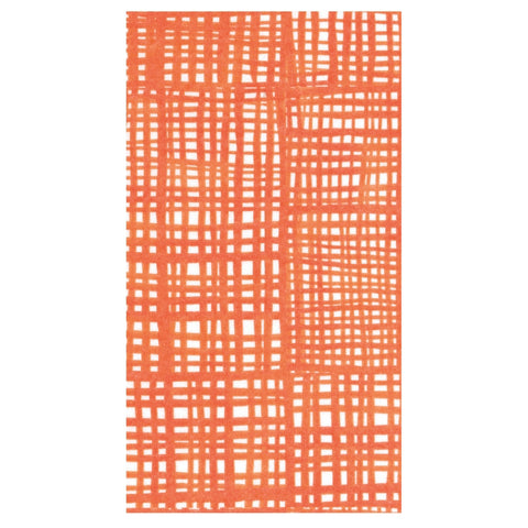 Orange and White Raffine Guest Towels