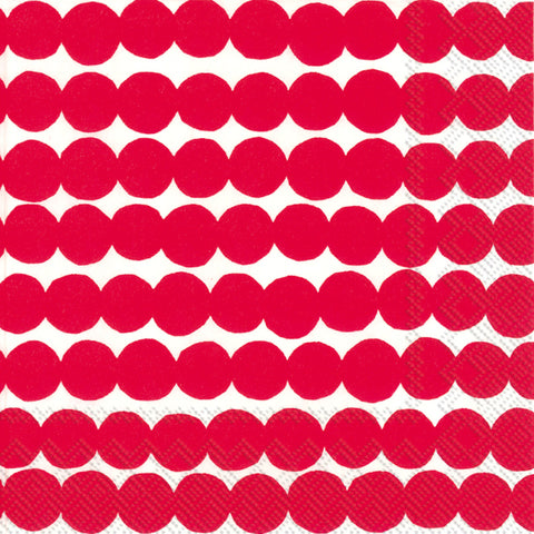 Red and White Dots Rasymattoo Marimekko Large Napkins