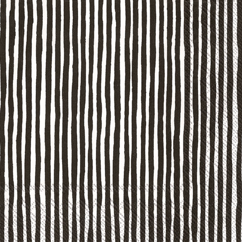 Black and White Striped Marimekko Large Napkins