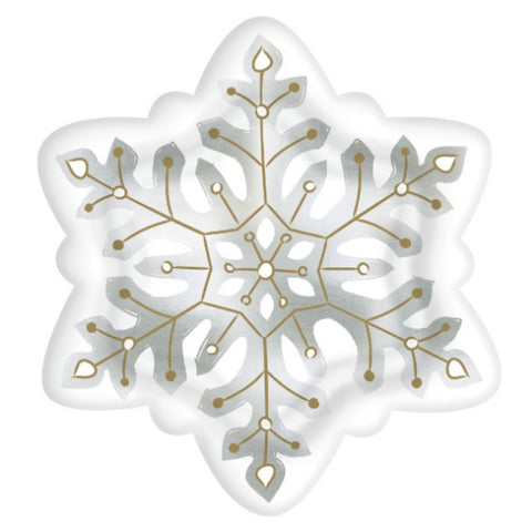 Snowflake Shaped Plate